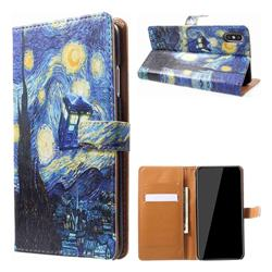 Lighthouse Painting Leather Wallet Case for iPhone XS Max (6.5 inch)