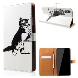 Cute Cat Leather Wallet Case for iPhone XS Max (6.5 inch)