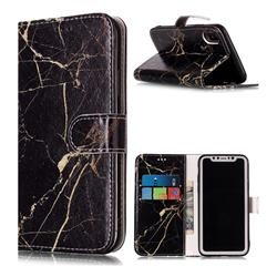 Black Gold Marble PU Leather Wallet Case for iPhone XS Max (6.5 inch)