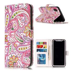 Pepper Flowers 3D Relief Oil PU Leather Wallet Case for iPhone XS Max (6.5 inch)