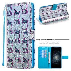 Little Unicorn Sequins Painted Leather Wallet Case for iPhone XS Max (6.5 inch)