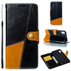 Retro Magnetic Stitching Wallet Flip Cover for iPhone XS Max (6.5 inch) - Black
