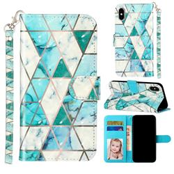 Stitching Marble 3D Leather Phone Holster Wallet Case for iPhone XS Max (6.5 inch)