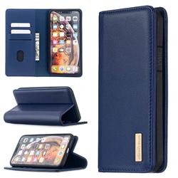 Binfen Color BF06 Luxury Classic Genuine Leather Detachable Magnet Holster Cover for iPhone XS Max (6.5 inch) - Blue