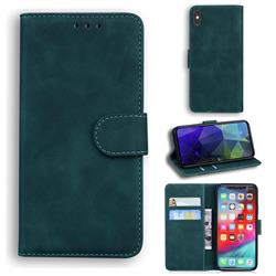 Retro Classic Skin Feel Leather Wallet Phone Case for iPhone XS Max (6.5 inch) - Green
