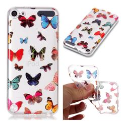 Colorful Butterfly Super Clear Soft TPU Back Cover for iPod Touch 5 6
