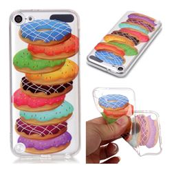 Melaleuca Donuts Super Clear Soft TPU Back Cover for iPod Touch 5 6