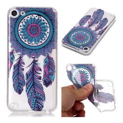 Blue Wind Chimes Super Clear Soft TPU Back Cover for iPod Touch 5 6