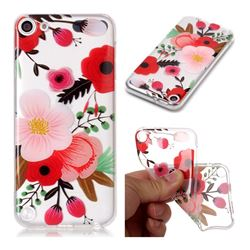 Painting Flowers Super Clear Soft TPU Back Cover for iPod Touch 5 6