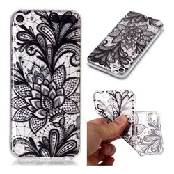 Black Rose Super Clear Soft TPU Back Cover for iPod Touch 5 6