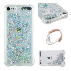 Dynamic Liquid Glitter Sand Quicksand Star TPU Case for iPod Touch 5 6 - Silver