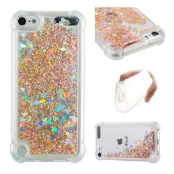 Dynamic Liquid Glitter Sand Quicksand Star TPU Case for iPod Touch 5 6 - Diamond Gold
