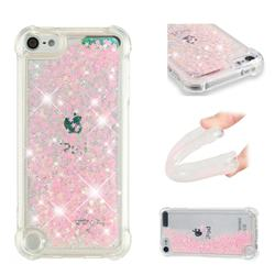 Dynamic Liquid Glitter Sand Quicksand TPU Case for iPod Touch 5 6 - Silver Powder Star
