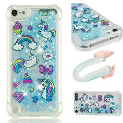 Fashion Unicorn Dynamic Liquid Glitter Sand Quicksand Star TPU Case for iPod Touch 5 6