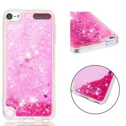 Dynamic Liquid Glitter Quicksand Sequins TPU Phone Case for iPod Touch 5 6 - Rose