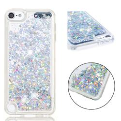 Dynamic Liquid Glitter Quicksand Sequins TPU Phone Case for iPod Touch 5 6 - Silver