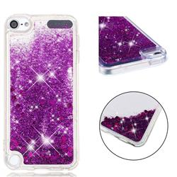 Dynamic Liquid Glitter Quicksand Sequins TPU Phone Case for iPod Touch 5 6 - Purple