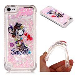 Sweet Deer Dynamic Liquid Glitter Sand Quicksand Star TPU Case for iPod Touch 5 6