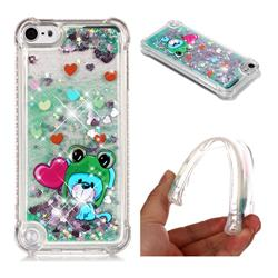 Heart Frog Lion Dynamic Liquid Glitter Sand Quicksand Star TPU Case for iPod Touch 5 6