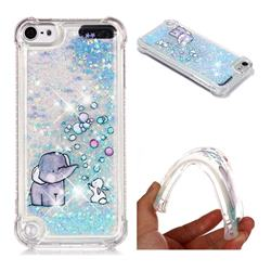 Bubble Jumbo Rabbit Dynamic Liquid Glitter Sand Quicksand Star TPU Case for iPod Touch 5 6