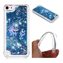 Happy Dolphin Dynamic Liquid Glitter Sand Quicksand Star TPU Case for iPod Touch 5 6