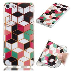 Three-dimensional Square Soft TPU Marble Pattern Phone Case for iPod Touch 5 6