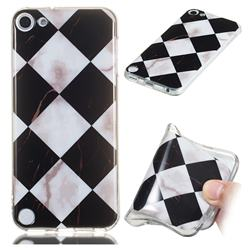 Black and White Matching Soft TPU Marble Pattern Phone Case for iPod Touch 5 6