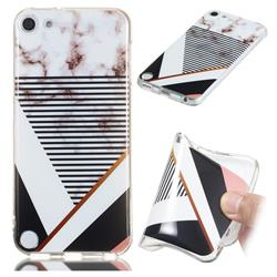 Pinstripe Soft TPU Marble Pattern Phone Case for iPod Touch 5 6