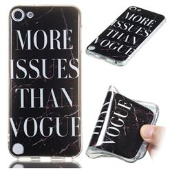 Stylish Black Soft TPU Marble Pattern Phone Case for iPod Touch 5 6