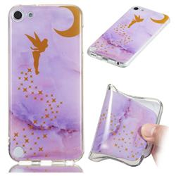 Elf Purple Soft TPU Marble Pattern Phone Case for iPod Touch 5 6