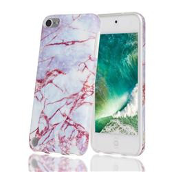 White Stone Marble Clear Bumper Glossy Rubber Silicone Phone Case for iPod Touch 5 6