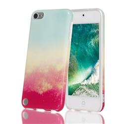 Sunset Glow Marble Clear Bumper Glossy Rubber Silicone Phone Case for iPod Touch 5 6