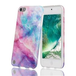 Dream Green Marble Clear Bumper Glossy Rubber Silicone Phone Case for iPod Touch 5 6