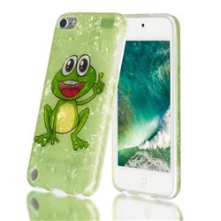 Smile Frog Shell Pattern Clear Bumper Glossy Rubber Silicone Phone Case for iPod Touch 5 6