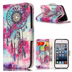 Butterfly Chimes PU Leather Wallet Case for iPod Touch 5 6