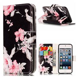 Azalea Flower PU Leather Wallet Case for iPod Touch 5 6
