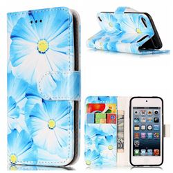 Orchid Flower PU Leather Wallet Case for iPod Touch 5 6