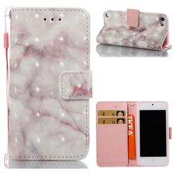 Beige Marble 3D Painted Leather Wallet Case for iPod Touch 5 6