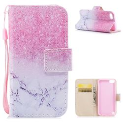 Marble Powder PU Leather Wallet Case for iPod Touch 5 6
