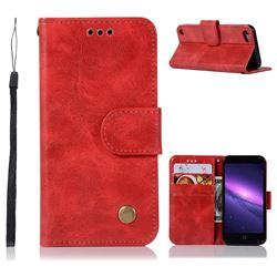 Luxury Retro Leather Wallet Case for iPod Touch 5 6 - Red