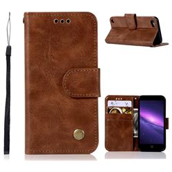Luxury Retro Leather Wallet Case for iPod Touch 5 6 - Brown