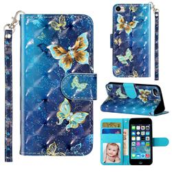 Rankine Butterfly 3D Leather Phone Holster Wallet Case for iPod Touch 5 6