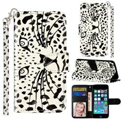 Leopard Panther 3D Leather Phone Holster Wallet Case for iPod Touch 5 6