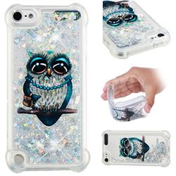 Sweet Gray Owl Dynamic Liquid Glitter Sand Quicksand Star TPU Case for iPod Touch 7 (7th Generation, 2019)