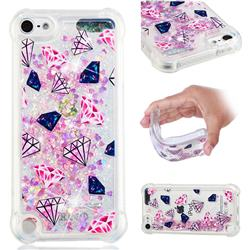 Diamond Dynamic Liquid Glitter Sand Quicksand Star TPU Case for iPod Touch 7 (7th Generation, 2019)