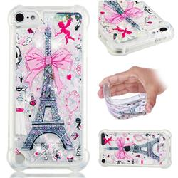 Mirror and Tower Dynamic Liquid Glitter Sand Quicksand Star TPU Case for iPod Touch 7 (7th Generation, 2019)