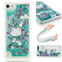 Tiny Unicorn Dynamic Liquid Glitter Sand Quicksand Star TPU Case for iPod Touch 7 (7th Generation, 2019)