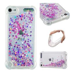 Dynamic Liquid Glitter Sand Quicksand Star TPU Case for iPod Touch 7 (7th Generation, 2019) - Rose