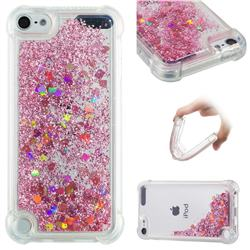 Dynamic Liquid Glitter Sand Quicksand Star TPU Case for iPod Touch 7 (7th Generation, 2019) - Diamond Rose